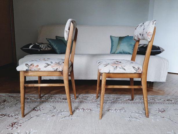 Krzesło, para krzeseł z lat 60-tych, PRL