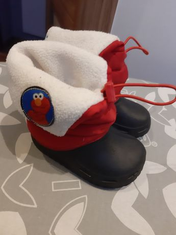 Buty, śniegowce, ocieplane pół-kalosze, Elmo Ulica Sezamkowa, r. 22