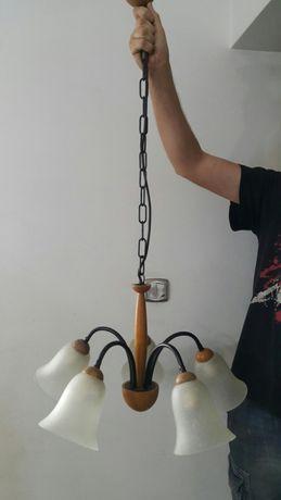 Lampa wisząca na 5 żarówki