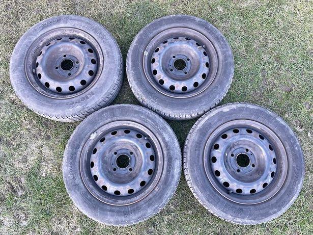 Felgi stalowe 14 cali Dunlop z oponami Kleber / 5,5J ET 34 4x108
