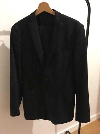 Ciemny granat garnitur ze spodniami Zara M