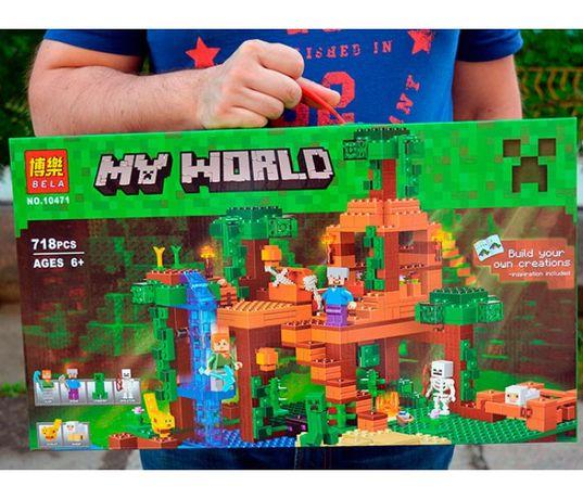 Конструктор Майнкрафт Minecraft лего Дом в джунглях