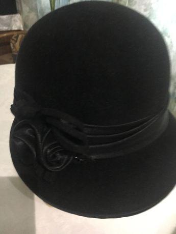 Меховая куртка под Шиншила Шляпа женская фетровая черная