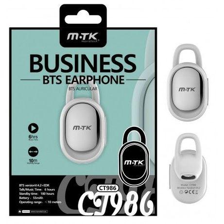Auricular Bluetooth -M-TK-CT986-Branco-C/ Caixa - 24h