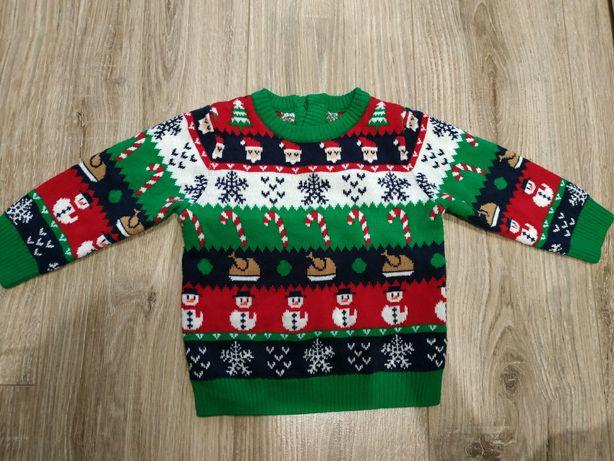 Новогодний свитерок свитер 1-1,5 года