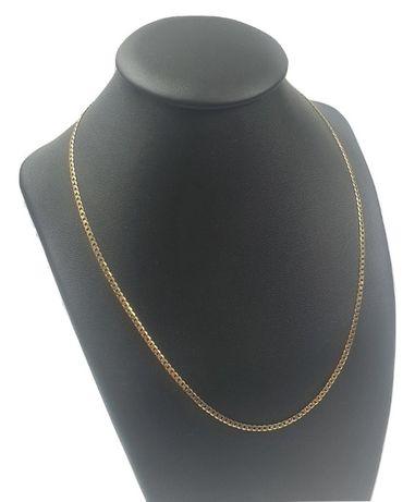 Piękny złoty łańcuszek pr. 585 pancerka