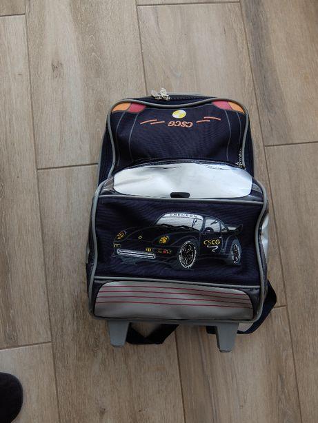 Plecak szkolny ze stelażem - AUTO