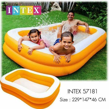 Бассейн детский надувной Intex Мандарин 229х147х46 см Много видов