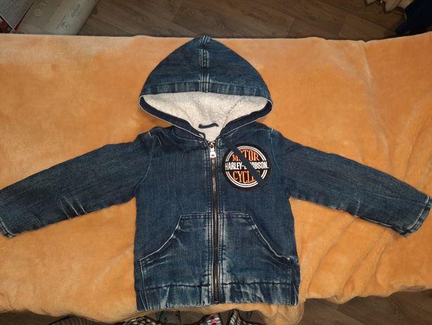 Куртка детская джинсовая на меху 18/24 мес.