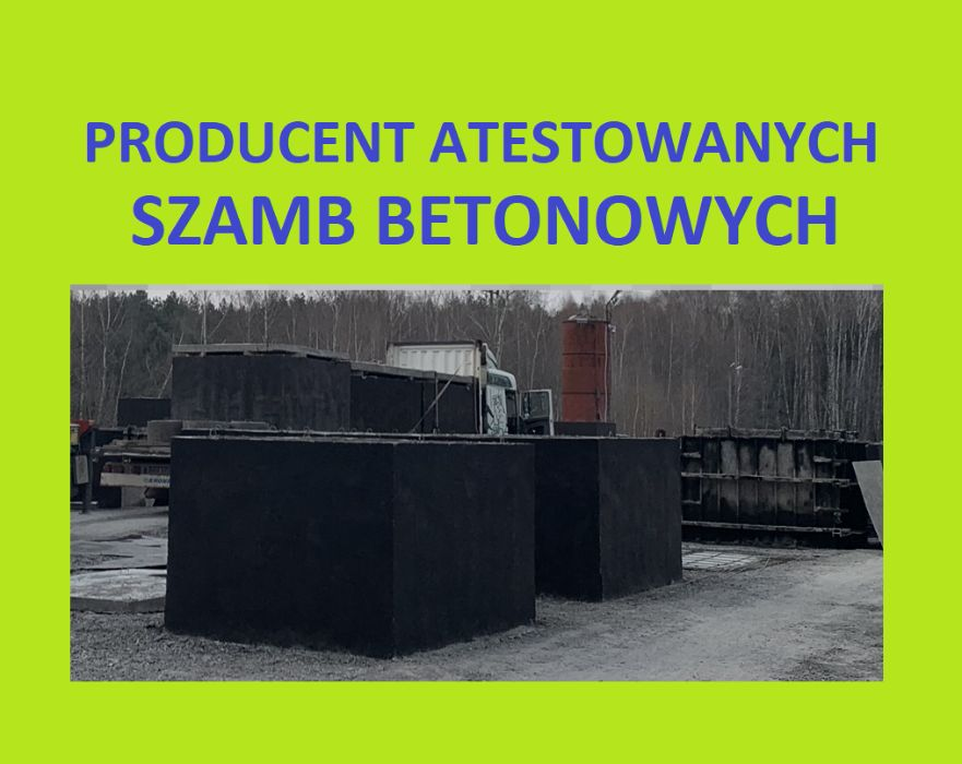 producent szamb szamba szambo betonowe 4,5,6,8,10,12,14,20,24,30,40m3 Kraków - image 1