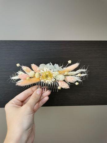 Гребень в волосы из сухоцветов