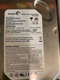 Disco IDE 160GB Seagate Novo