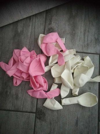 Balony różowe i białe