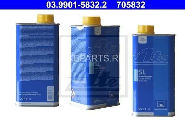 Тормозная жидкость ATE. DOT-4. (1л)