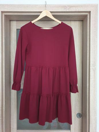 Sukienka mini burgund śliwka