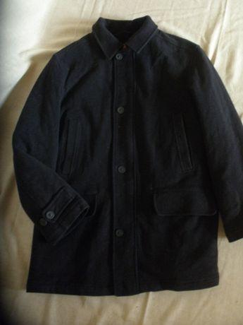 Теплое удобное пальто полупальто куртка осень-зима шерсть m&s