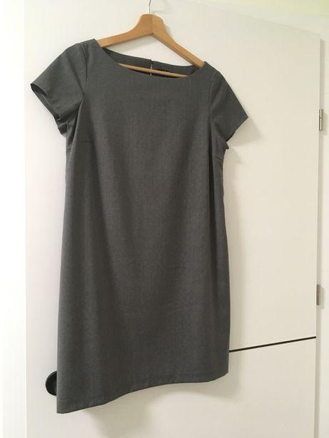 Szara wełniana sukienka MLE (Kasia Tusk) w rozm. XS