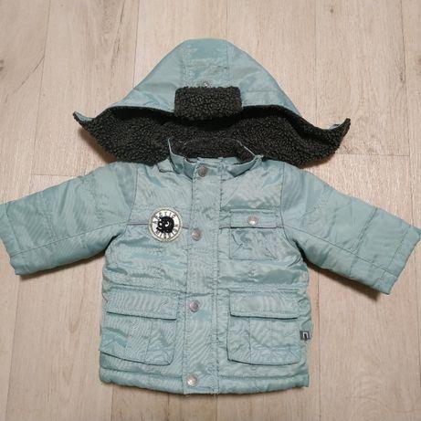 Куртка демисезонная 3-6М на мальчика на холодную весну под комбинезон