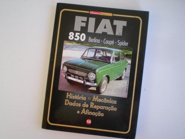 Livro técnico manual Fiat 850 Berlina Coupé Spider Clássicos Populares