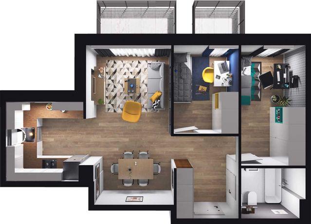 Inteligentne mieszkanie / 50 m kw / 2 pokoje / Nad jeziorem