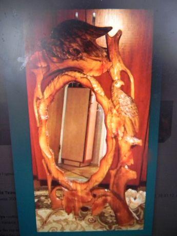 зеркало ручной работы Закарпаття, натуральное дерево