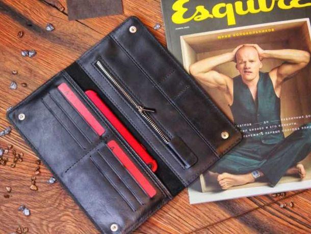 Кошелек кожаный кожаный клатч органайзер чоловічий шкіряний гаманець