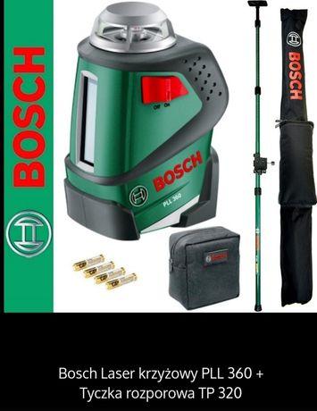 Poziomica laserowa Bosch PLL 360 + statyw. NOWY ZESTAW.