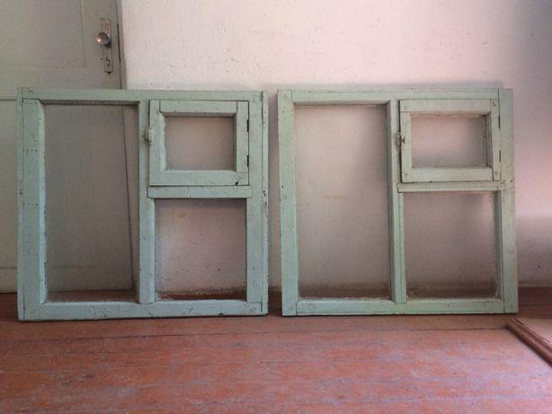 Окна деревянные — 2 штуки
