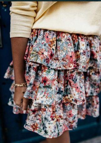 Nowa spódniczka z metką Lana Flowers, rozmiar S/M