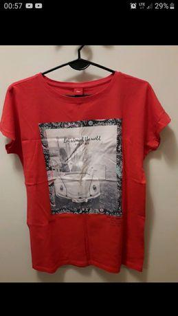 Czerwona koszulka s.Oliver z nadrukiem