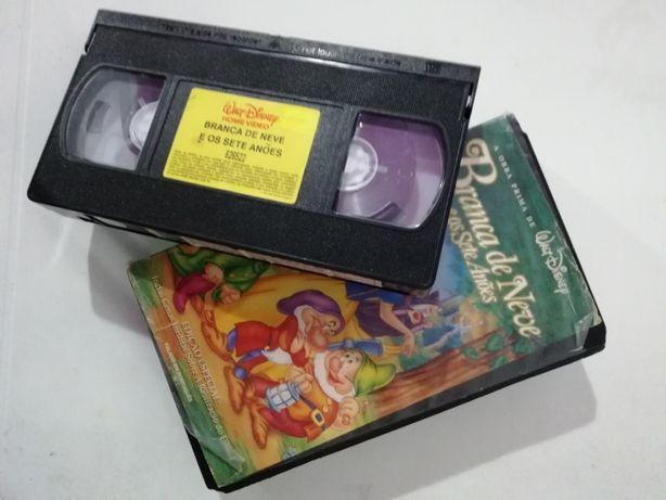 filme VHS walt disney Branca de Neve