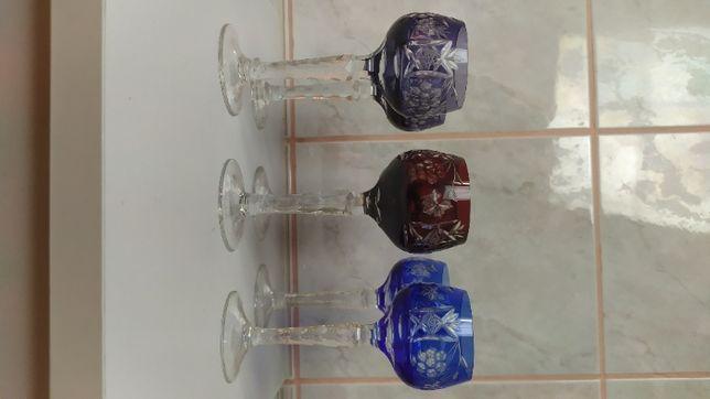 RAMERY DO WINA - Kryształowe kieliszki (3 kolory x2)