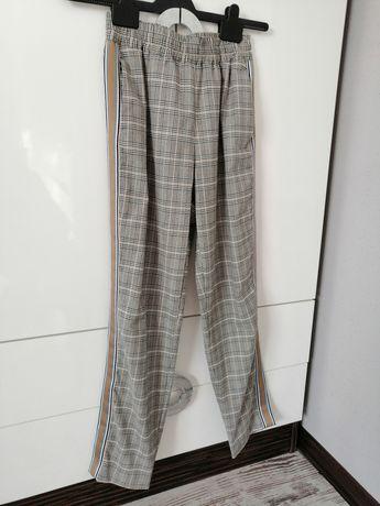 Zara spodnie z lampasem 34
