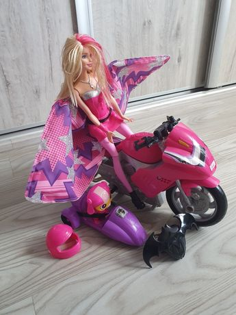 Barbie super agentka plus motor i piesek