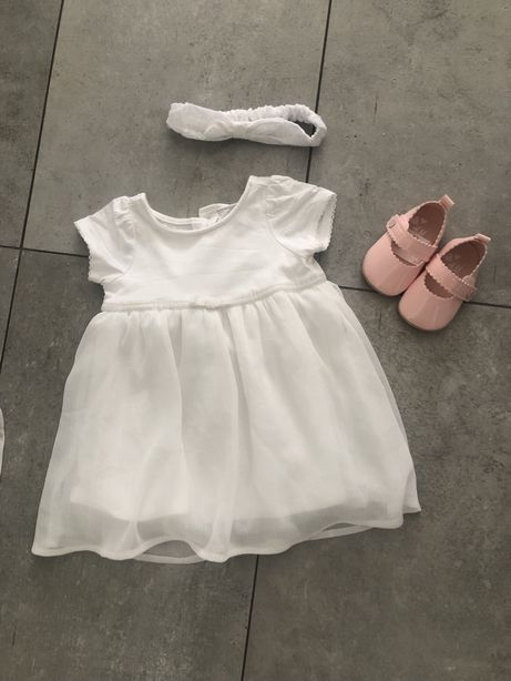 Komplet sukienka  na chrzest dla dziewczynki