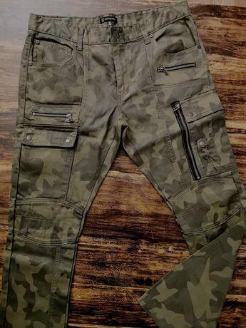 Spodnie bojówki USA INC moro kieszenie 36W32L