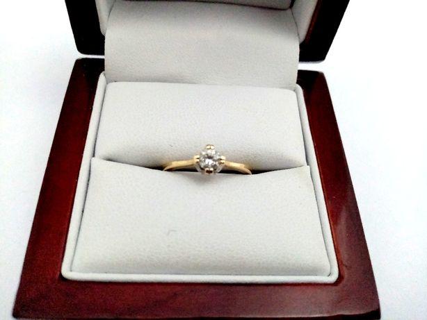 Złoty Zaręczynowy Pierścionek 585PR 1,94G