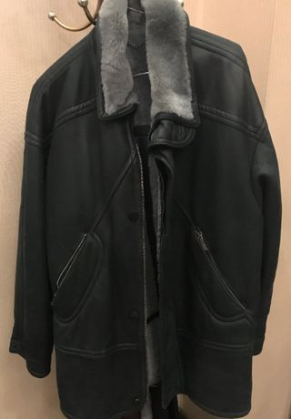 Мужская кожаная куртка на меху Vittorio Forti Loro Piana YSL Gucci RL