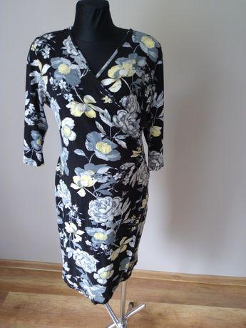 Sukienka ciażowa w kwiaty karmienie