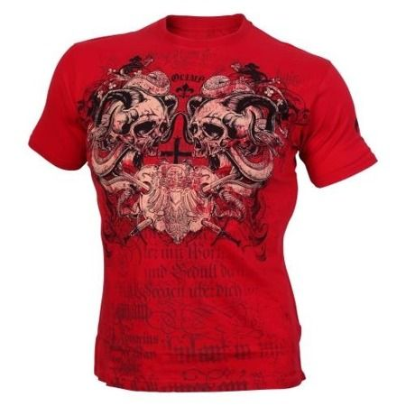 Super Koszulka Olimp SCREAMING SKULLS Red Ostatnie Sztuki!!!