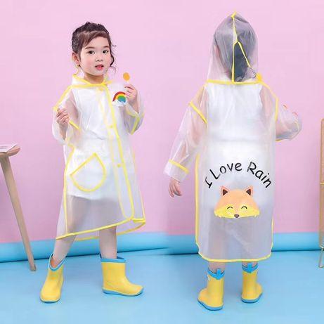 Детский дождевик плащ с капюшоном 90 100 110 120 130 ОПТ и Розница