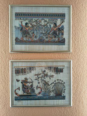 Ramki z papirusami z Egiptu