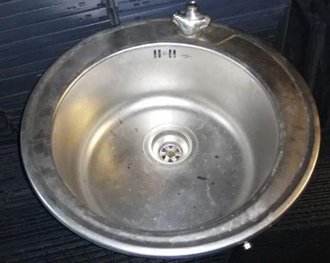 Мийки кухонні з нержавіючої сталі вживані, мойки кухонные нерж б/у