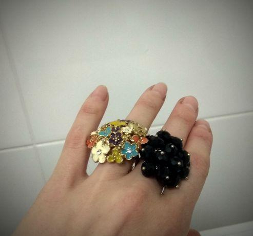 Бижутерия два кольца серьги сердечки