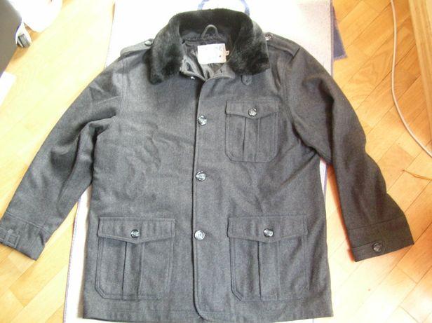 Męska wełniana kurtka XL/XXL jesionka płaszcz 50/52 z wełna kashmir BD