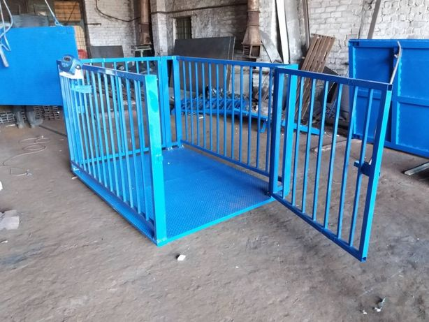 Платформенные весы для животных на 1500 кг(свиней, коров) с обрешеткой