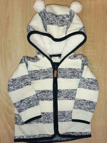 Тёплая кофта с ушками, куртка Н&М 74 (6-9)
