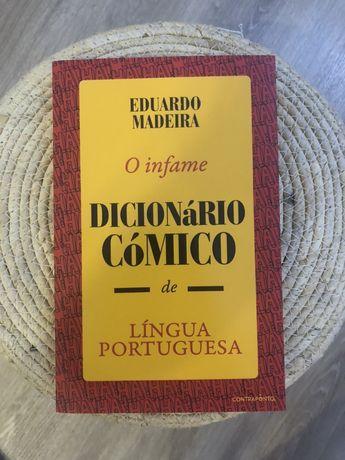 """Livro """"O infame dicionário cómico de língua portuguesa"""" de Eduardo M."""