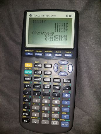 Калькулятор инженерный Texas instruments TI-83