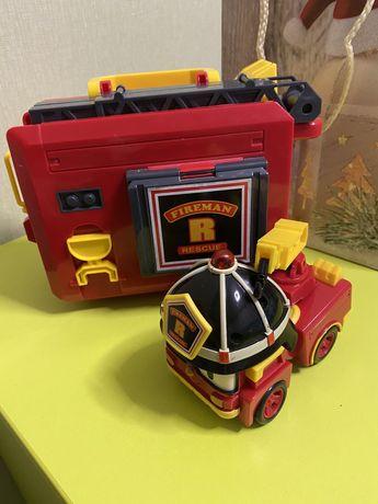 Трансформер Рой с гаражом игровой набор